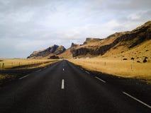 wzdłuż drogowej chmury burzy Zdjęcie Stock