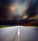 wzdłuż drogowej chmury burzy Obraz Royalty Free