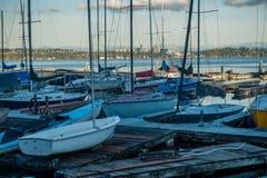 Wzdłuż Jeziornego Waszyngton - łodzie Obraz Stock