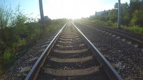 Wzdłuż kolejowych śladów zdjęcie wideo