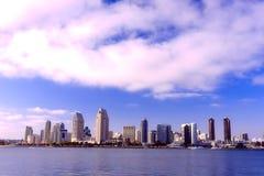 wzdłuż miasta Diego schronienia San linia horyzontu Obrazy Royalty Free