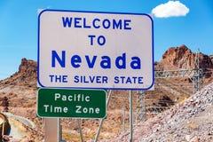 wzdłuż Nevada znaka sposobu powitanie Zdjęcie Royalty Free