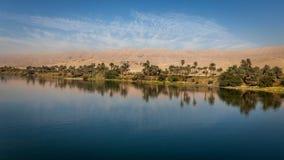 Wzdłuż Nil rzeki Zdjęcia Royalty Free