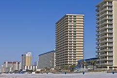 wzdłuż plażowych budynków Zdjęcie Royalty Free