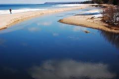 wzdłuż plaży odwilż Fotografia Royalty Free