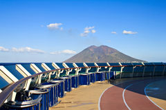 Wzdłuż Stromboli wulkanu Zdjęcie Royalty Free