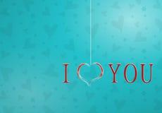 wzdłuż tło koloru płynący serca wiosłują płynnie valentine Obrazy Royalty Free