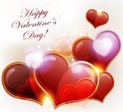 wzdłuż tło koloru płynący serca wiosłują płynnie valentine Zdjęcia Royalty Free