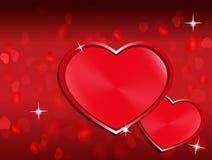 wzdłuż tło koloru płynący serca wiosłują płynnie valentine Zdjęcia Stock