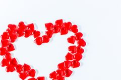 wzdłuż tło koloru płynący serca wiosłują płynnie valentine Walentynki Czerwona Abstrakcjonistyczna tapeta tło kolaż obraz royalty free