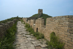 wzdłuż wielkiego muru Fotografia Stock