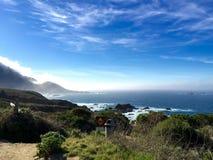 Wzdłuż wybrzeże pacyfiku autostrady, Kalifornia Obrazy Royalty Free