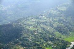 Wzgórki w Pokhara dolinie Obrazy Stock