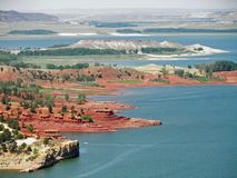 wzgórz glendo park czerwonego stanu zdjęcie royalty free