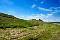 Wzgórza blisko rzeki w republice Tatarsta Zdjęcia Royalty Free