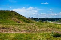 Wzgórza blisko rzeki w republice Tatarstan Obrazy Stock