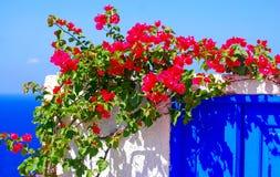 wzgórza budynku Greece wyspy santorini Zdjęcia Stock