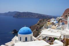 wzgórza budynku Greece wyspy santorini Obrazy Stock