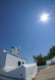 wzgórza budynku Greece wyspy santorini Obraz Stock