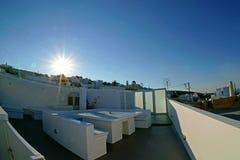 wzgórza budynku Greece wyspy santorini Obraz Royalty Free
