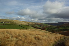 wzgórza cumują walleys Yorkshire Zdjęcia Royalty Free