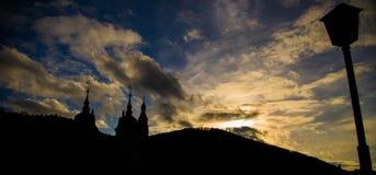 Wzgórza i niebo Zdjęcia Stock