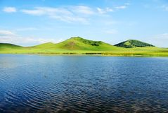 wzgórza jeziora Fotografia Stock