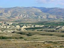 Wzgórza, Jordanowska dolina zdjęcie royalty free