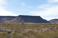 wzgórza kraju dużych plateau Zdjęcie Royalty Free