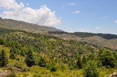 Wzgórza Kształtują teren w willa generale Belgrano, cordoba zdjęcie royalty free