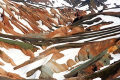 wzgórza landmannalaugar obraz royalty free