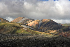 wzgórza landmannalaugar fotografia royalty free