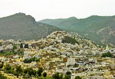 wzgórza moroccan wioska Obrazy Stock