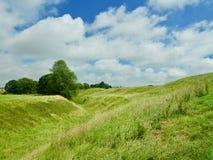 Wzgórza na Wiltshire krajobrazie zdjęcie stock