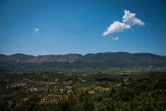 Wzgórza na Zakynthos Zdjęcia Royalty Free