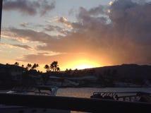 wzgórza nad zachodem słońca Obraz Royalty Free