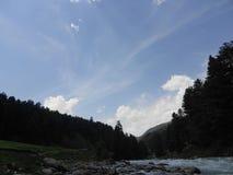 Wzgórza, Pahalgam, Jammu Obraz Stock