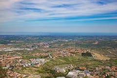 Wzgórza San Marino republiki San marino Obraz Stock