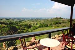 wzgórza Siena Tuscan Fotografia Stock