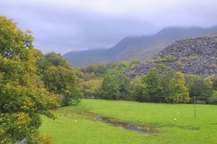 Wzgórza Snowdonia Obrazy Stock