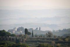 wzgórza Tuscany Fotografia Stock
