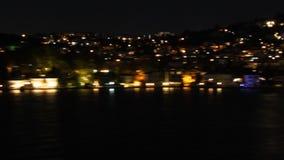 Wzgórza w Istanbuł przy nocą zbiory wideo