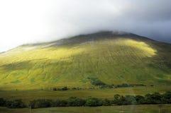 Wzgórza w mgle Zdjęcia Stock