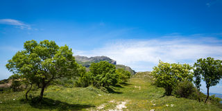 Wzgórza w Sycylijskim kraju krajobrazie, Włochy Zdjęcie Stock