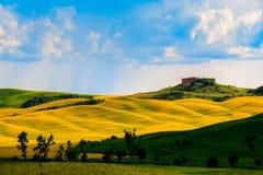 Wzgórza z światłem i cieniem Obrazy Royalty Free