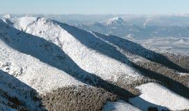 Wzgórze Choc od Niskiego Tatras, Sistani Obraz Royalty Free