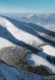 Wzgórze Choc od Niskiego Tatras, Sistani Obraz Stock