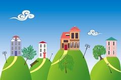 wzgórze domy Obraz Royalty Free