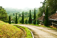 wzgórze droga Zdjęcia Royalty Free