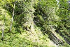 Wzgórze geological warstwy Zdjęcia Royalty Free